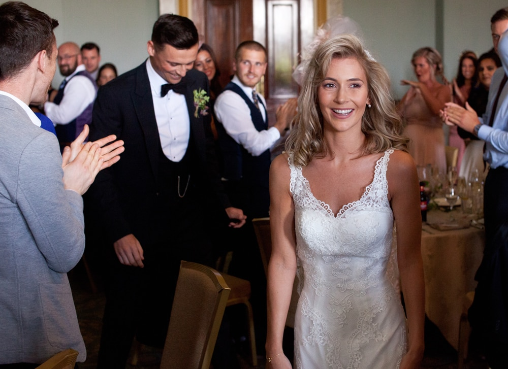 wynyard hall wedding bride and groom