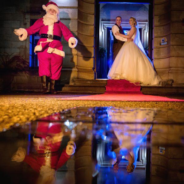 Surprise Santa Wedding Visit
