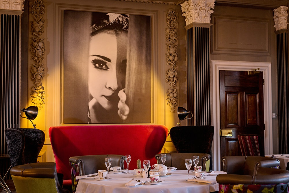 interior image at Acklam Hall restaurant set up
