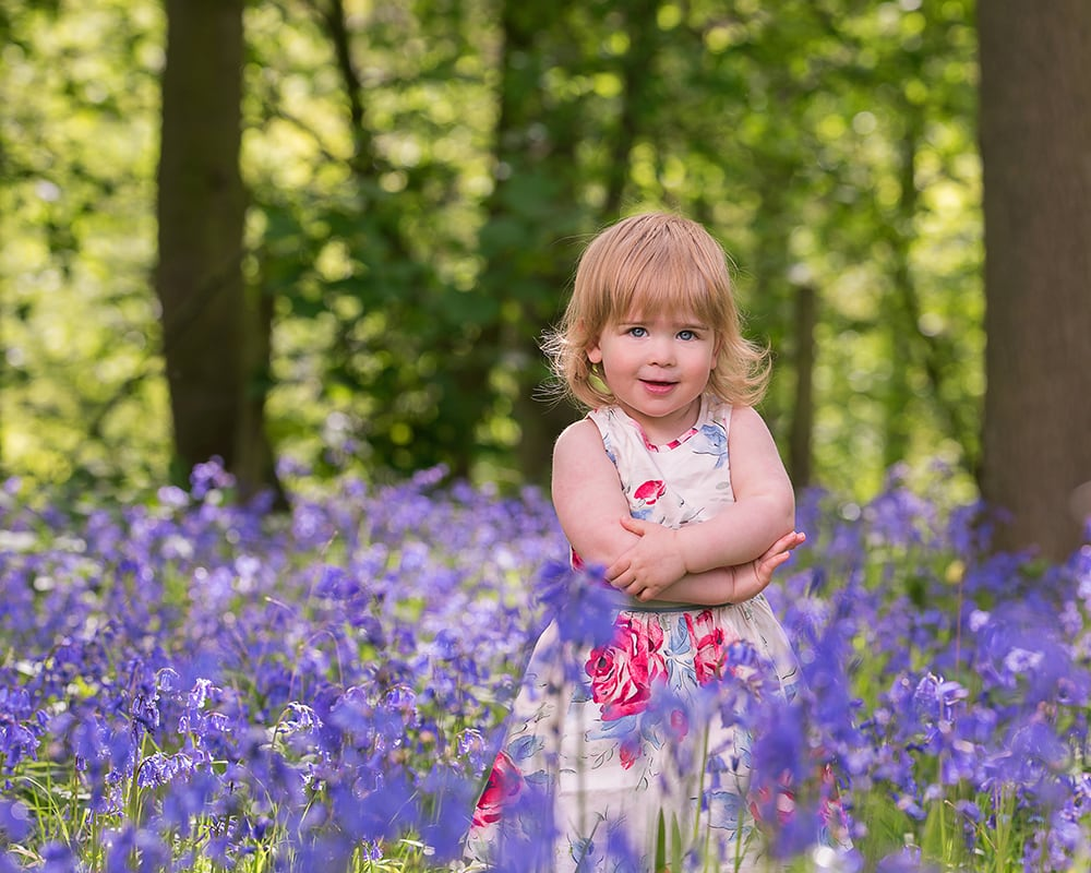 MPA award winner Little girl in bluebells