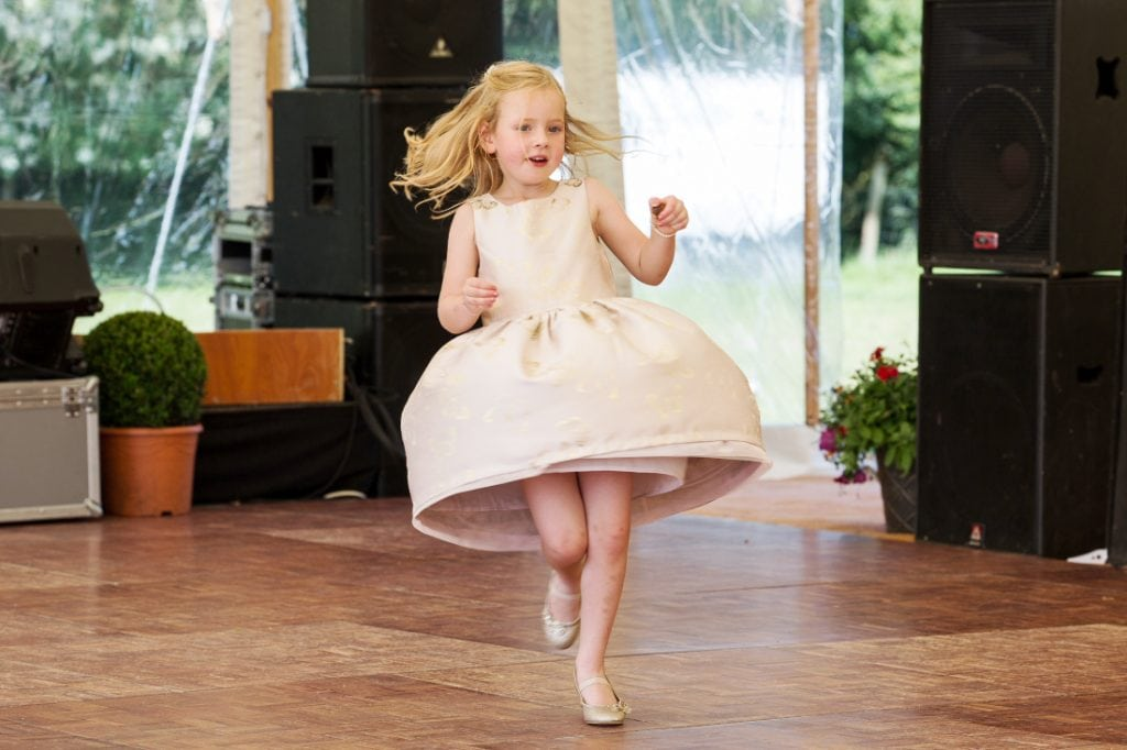 festival wedding dancing flowergirl