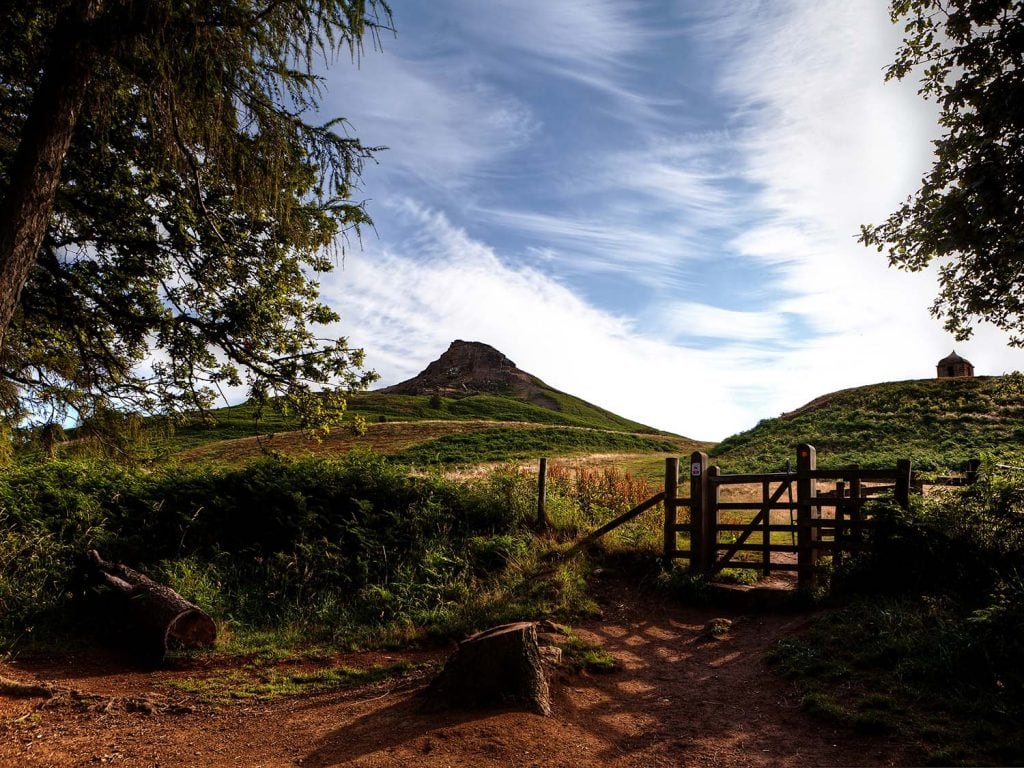 Roseberry topping photographed in early morning light.